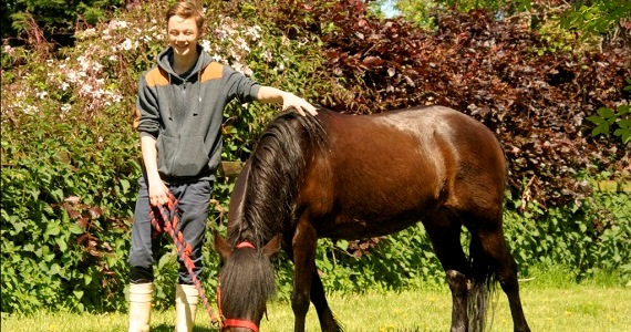 Project-1 Student Josh with horse