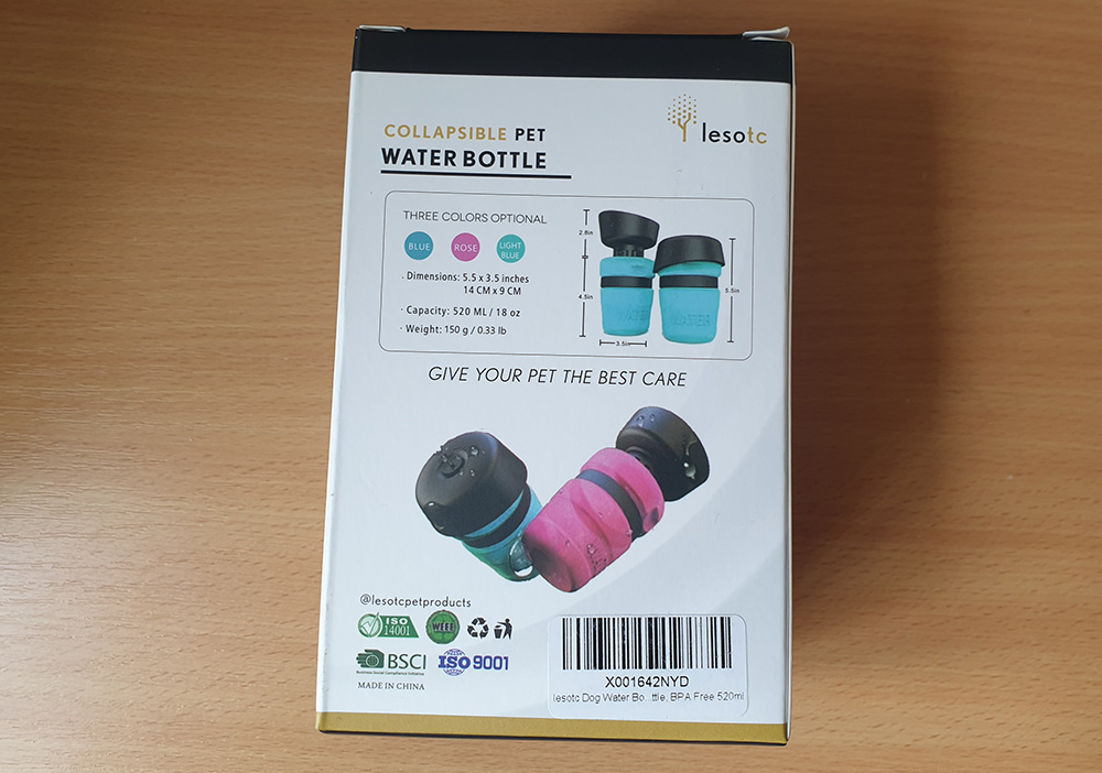 Lesotc Collapsable water bottle review