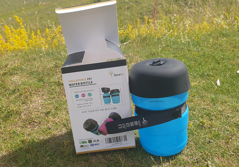 Lesotc Collapsable water bottle review 3