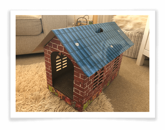 Cat Scratching Cardboard House Product Review
